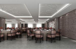 简欧风格精致酒店餐厅设计装修效果图