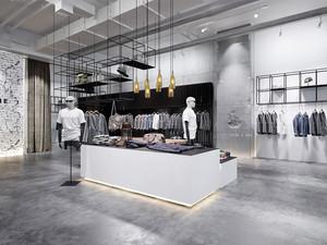 后现代风格时尚创意服装店装修效果图