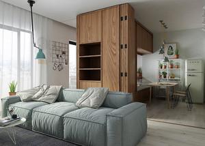 49平米简约温馨单身公寓装修效果图赏析