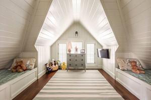 欧式风格别墅室内精美阁楼儿童房装修效果图