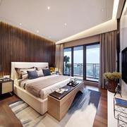 后现代风格棕色系卧室装修效果图赏析