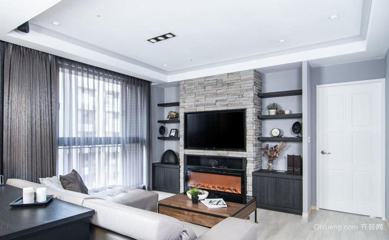 现代风格精致客厅电视背景墙装修效果图赏析