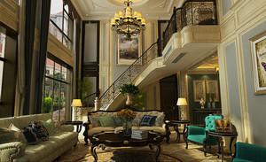 360平米美式风格精致奢华别墅装修效果图