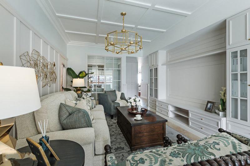 美式风格大户型精致客厅装修效果图赏析