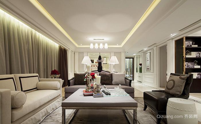 145平米欧式风格精致大户型室内装修效果图赏析