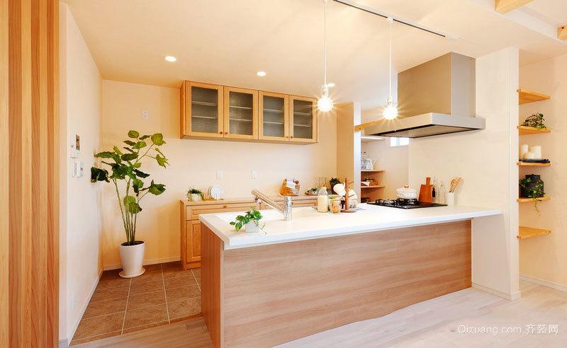 日式风格简约开放式厨房装修效果图赏析