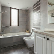 8平米现代风格精致卫生间设计装修效果图