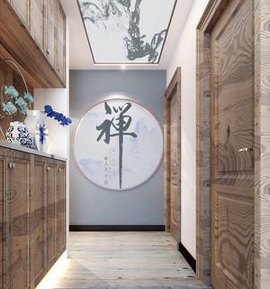 100平米新中式风格素雅精致室内装修效果图