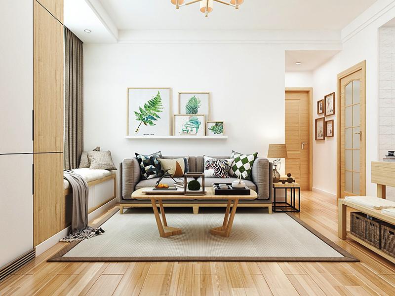 宜家风格简约温馨两室一厅室内装修效果图