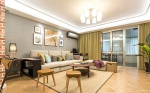 宜家风格简约温馨客厅设计装修实景图