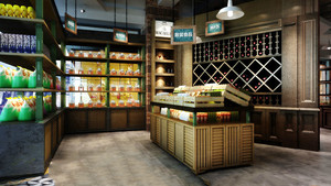 45平米乡村风格水果店装修效果图赏析