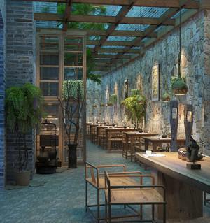 中式风格精致中餐厅设计装修效果图