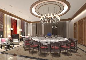 中式风格酒店包厢设计装修效果图赏析