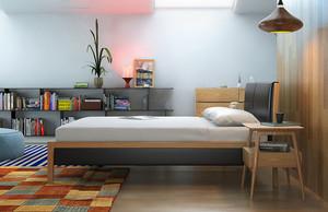 北欧风格浅色时尚一居室室内装修效果图