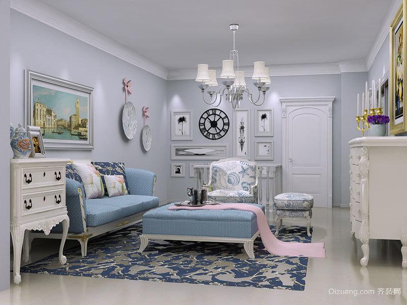 79平米地中海风格精美一居室室内装修效果图