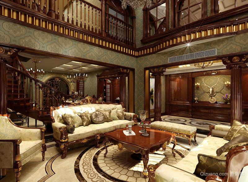 389平米古典欧式风格精致别墅室内装修效果图