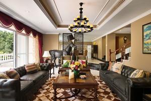 混搭风格精美大户型客厅隔断设计装修效果图