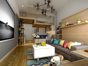 58平米简约风格精致单身公寓设计装修效果图