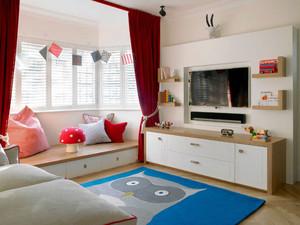 现代简约风格小户型客厅飘窗装修效果图