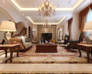 360平米美式田园风格别墅室内设计装修效果图