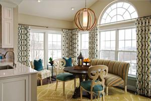 欧式风格精致别墅室内餐厅卡座设计装修效果图