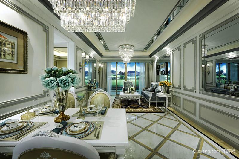 欧式风格奢华浪漫精美大户型室内装修效果图