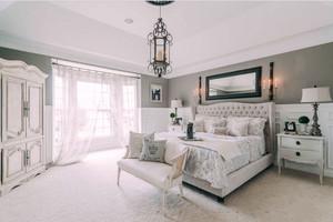 欧式风格别墅室内温馨卧室装修效果图