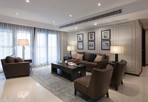 132平米现代风格精装三室两厅室内装修效果图案例
