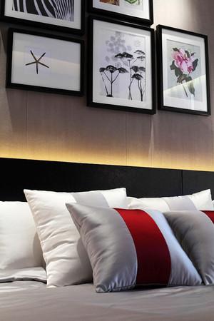 127平米现代风格精致三室两厅室内装修效果图案例