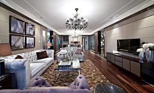 新古典主义风格低调奢华三室两厅室内装修效果图