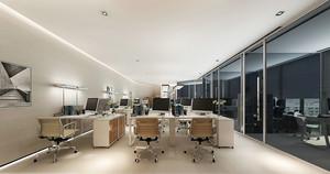 现代简约风格大型办公室装修效果图赏析