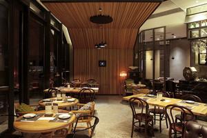现代风格精美餐厅吊顶设计装修效果图