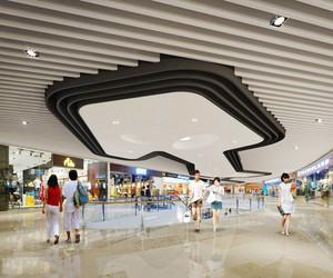 现代简约风格时尚商场吊顶装修效果图