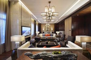 新中式风格精致酒店套房设计装修效果图