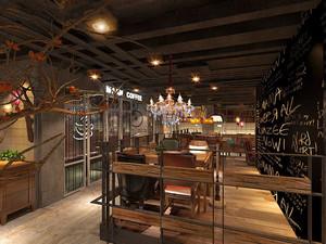 乡村风格创意咖啡厅设计装修效果图