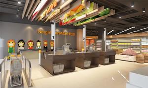 120平米现代风格超市装修效果图