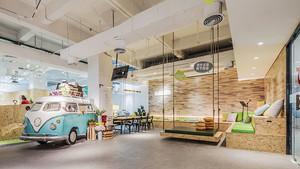 现代简约风格创意办公室装修效果图