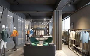 现代风格精致男服装店装修效果图