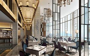 简欧风格精美西餐厅设计装修效果图赏析