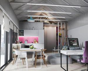 北欧风格时尚清新公寓设计装修效果图赏析