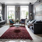 北欧风格时尚灰色系精致客厅设计装修效果图