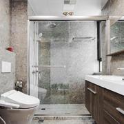 宜家风格简约卫生间淋浴房设计装修效果图
