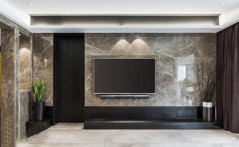 现代风格精致大理石客厅电视背景墙装修效果图