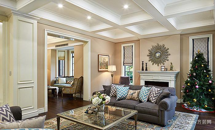 330平米美式风格精美别墅室内装修效果图案例