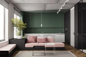 60平米现代风格精美公寓装修效果图赏析
