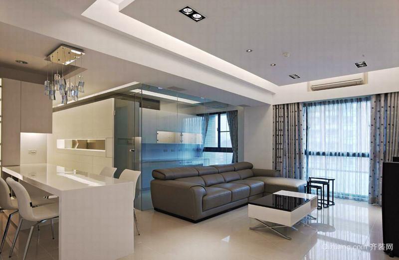 100平米现代简约风格室内装修效果图阿里