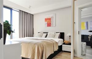 78平米现代简约风格精美两室两厅室内装修效果图案例