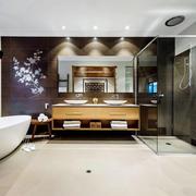 新中式风格大户型卫生间装修效果图赏析