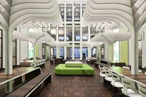 现代风格时尚精致大型办公室装修效果图