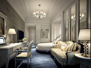 欧式风格精美酒店客房设计装修效果图